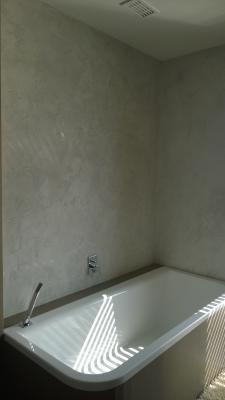 Concrete imitation in bathroom